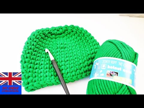 How to Crochet a winter hat? - Green easy crochet green hat!