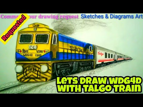 lets draw wdg 4d with talgo train || indian railways || sketches & diagrams  art ||