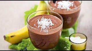 Десерт из какао с бананами