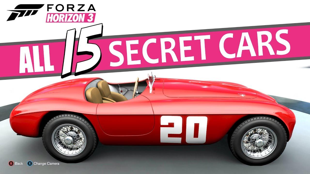 Forza Horizon 3 All Barn Finding Locations All Secret