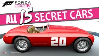 Forza Horizon 3 - All Barn Finding Locations (All SECRET and RARE Cars)