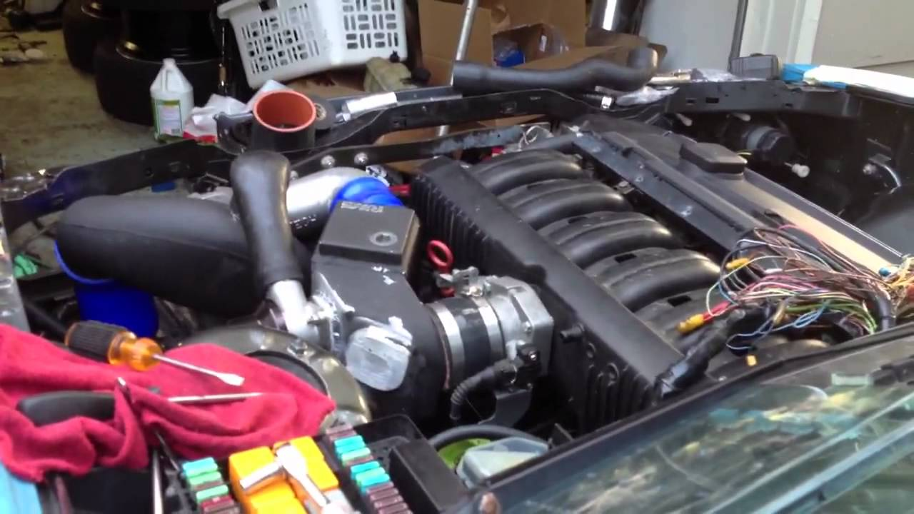 E30 M52 Supercharged First Start Youtube