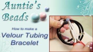 Karla Kam - How to make a Velour Tubing Bracelet
