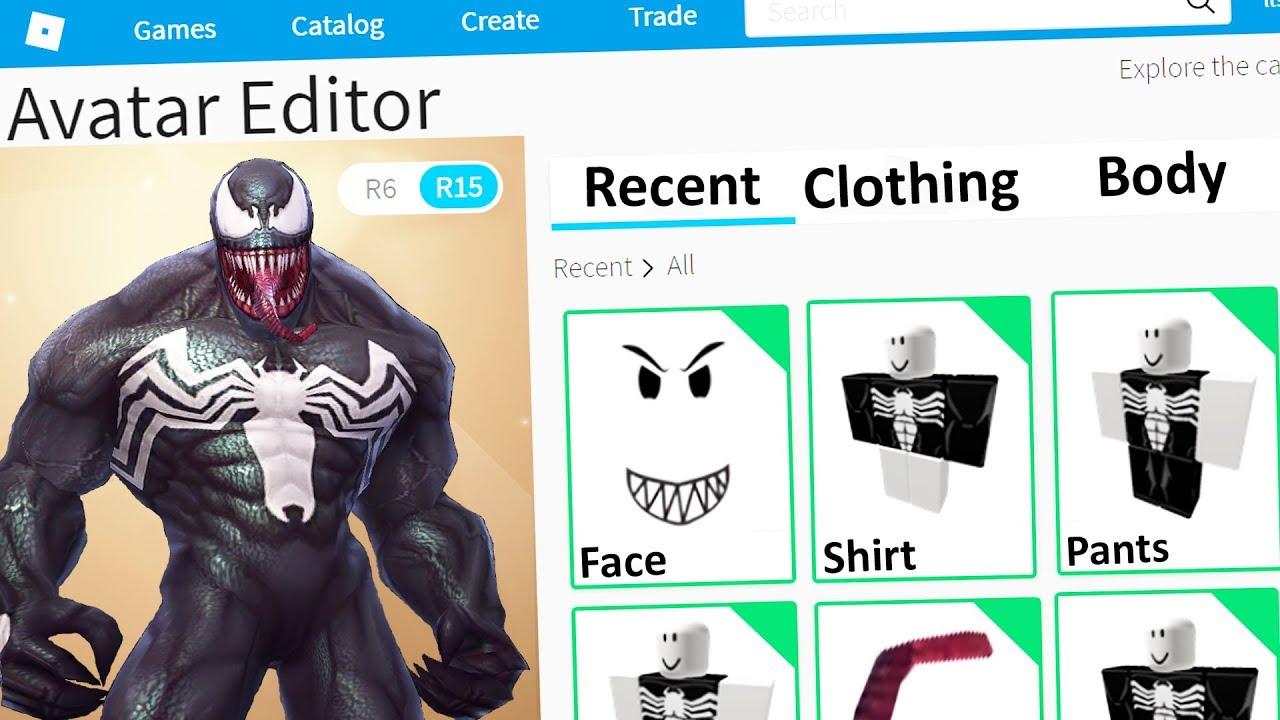 Roblox Making Venom An Account Youtube
