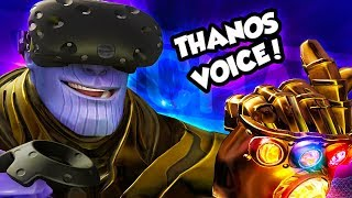 THE VOICE OF THANOS PLAYS VRCHAT! (HILARIOUS!)
