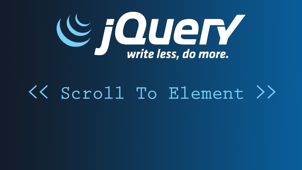 #2 - Exemples Pratiques jQuery : SMOOTH SCROLL