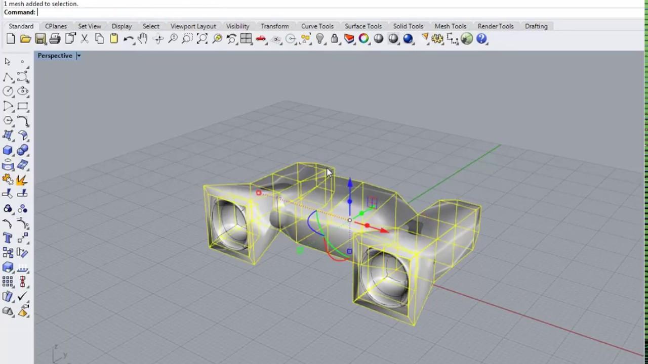 rhino 3d, subdivision, modelling