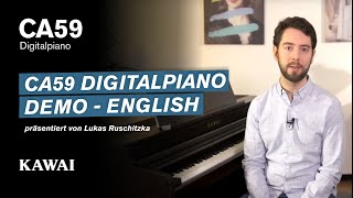 KAWAI CA59 Digital Piano DEMO - English