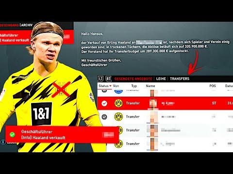 FIFA 21 : DAS PASSIERT WENN DORTMUND HAALAND FÜR 320 MIO VERKAUFT !!! 💸😳 BVB One Season Wonder #4