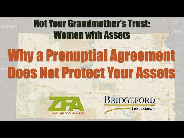 Why a Prenuptial Agreement does not protect your assets