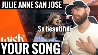 """[American Ghostwriter] Reacts to: Julie Anne San Jose sings Your Song"""" (Parokya Ni Edgar) Live!"""