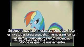 Phoenix Wright My Little Pony FIM Turnabout Storm Part 1 Sub Español
