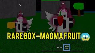 SELTENE BOX Magma Obst-ein Stück Legendary-Roblox