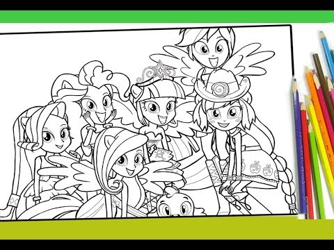 - My Little Pony Equestria Girls Coloring For Kids MLP Coloring Book - YouTube