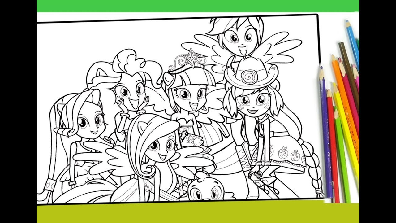 my little pony equestria girls coloring for kids mlp coloring book