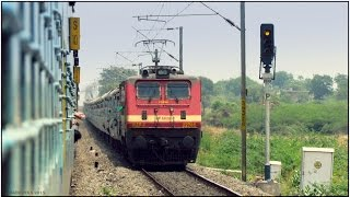 INDIAN RAILWAYS: KARNATAKA SAMPARK KRANTI EXPRESS FULL JOURNEY COMPILATION- Part2: Kazipet-Nagpur