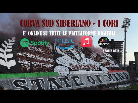 Il boato della Curva Sud al gol di Coda in Salernitana-Avellino.