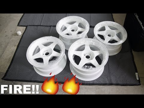 12 WHEELS BACK FROM POWDER COATER