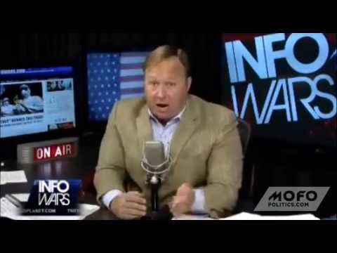 Alex Jones sings a song about