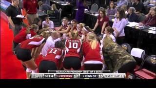 Penn State vs Wisconsin NCAA Volleyball 2013 [Set 4]