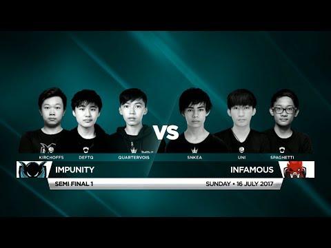 Impunity Vs Infamous • Vainglory 8 • Southeast Asia • Summer Split 1, Week 4, Semi Final One