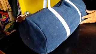 पुरानी जींस से बनाना सीखे सुंदर ट्रैवल बैग || How To Make Travel Bag From Jeans || ~Zipper Bag~