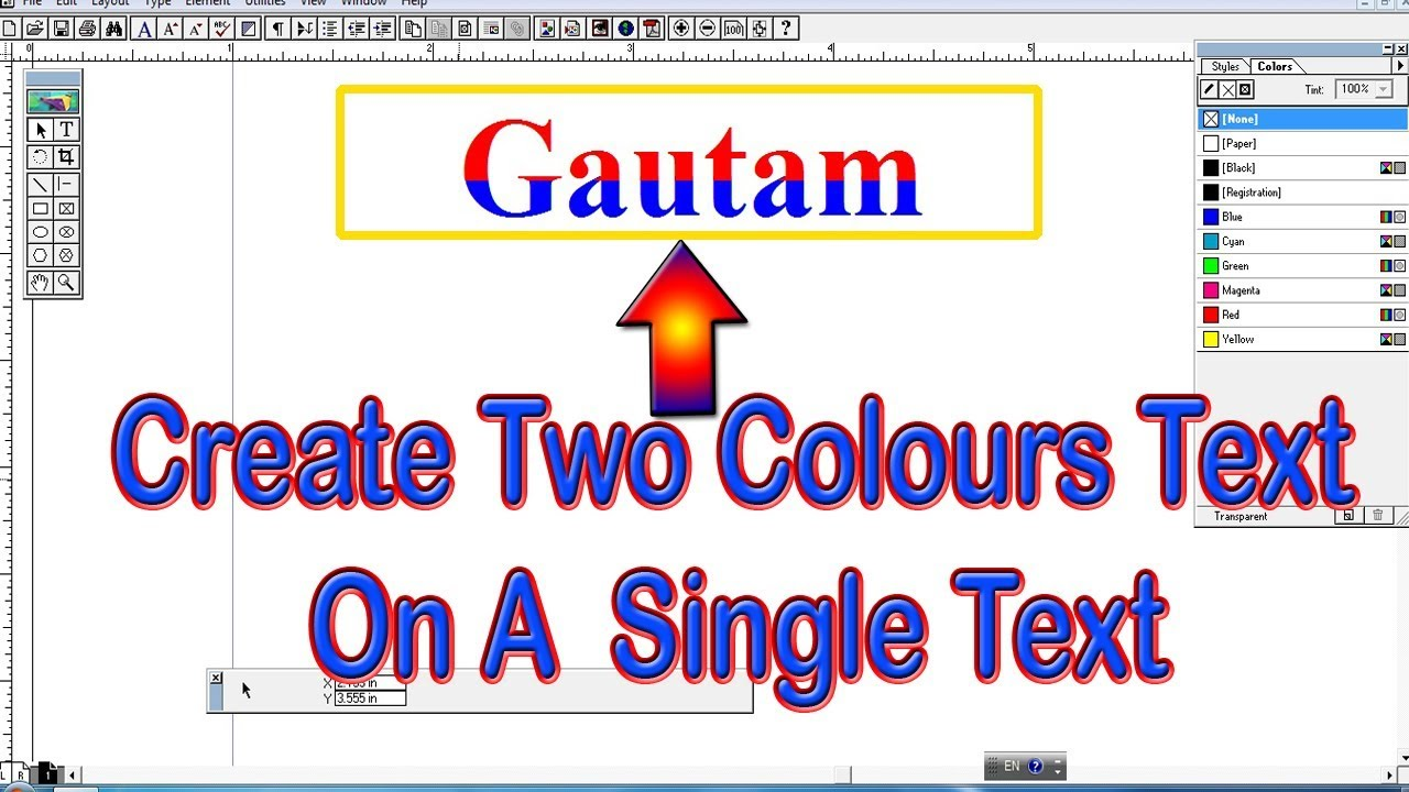 Advance Tutorial Of Adobe Pagemaker   How To Create Single