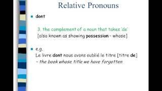 ilearn french - Relative Pronouns: Qui Que Dont Ou