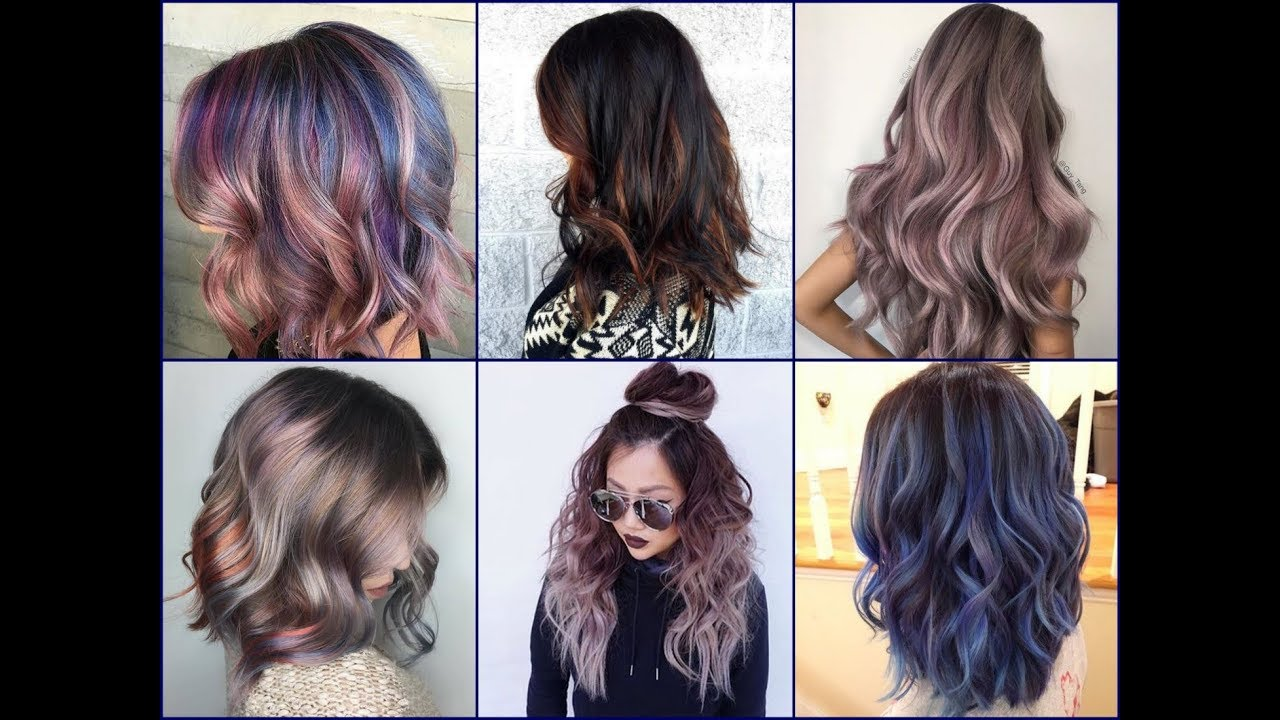 Fall Winter 2018 2019 Hairstyle Trends: Latest Winter Hair Color Ideas & Trends 2017 / 2018