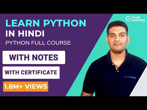 Python Tutorial in Hindi   Learn Python in Hindi   Python Full Course in Hindi   Python Tutorial