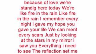 måns zelmerlöw fire in the rain lyrics