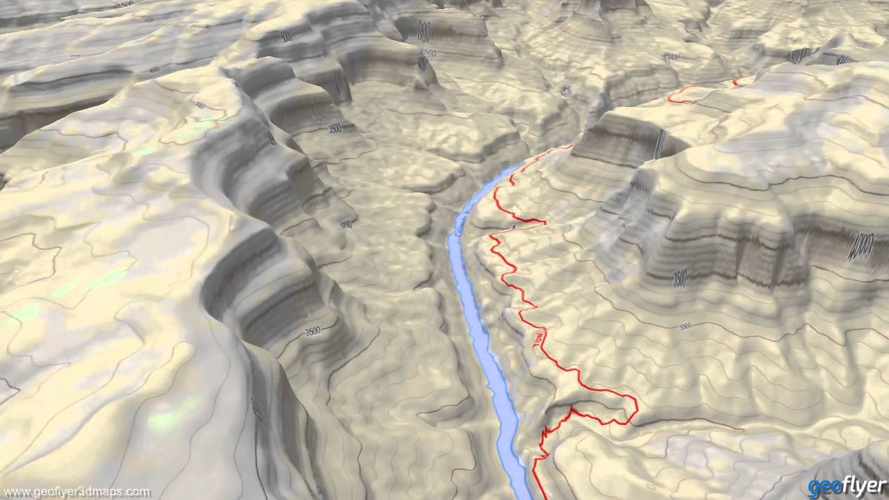Grand Canyon Us National Parks 3d Maps 3d Topo Map Gcarta Geoflyer Iphone Youtube