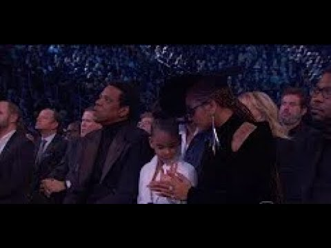 Blue Ivy Hilariously Calms Down Beyonce and Jay Z During Grammys
