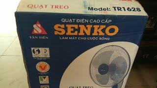Mở hộp 2 quạt điện senko TR1628 TR828 TR1428 remote điều khiển từ xa (electric fan with controller)