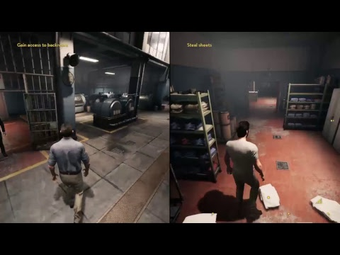 Game play of a way out  