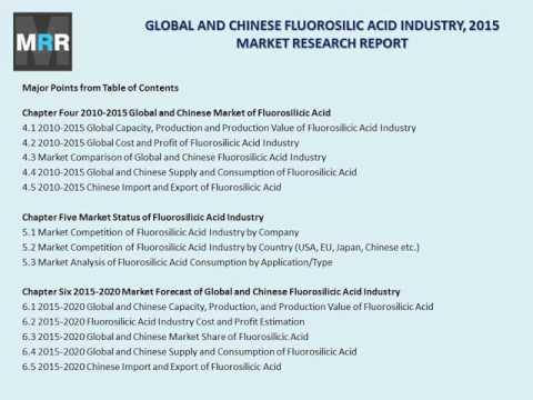 Global Fluorosilicic Acid Industry Forecast Study 2015-2020