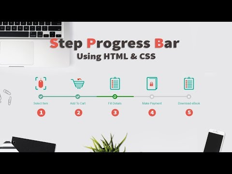 Create Step Progress Bar Using HTML And CSS | HTML And CSS Tutorials For Beginners