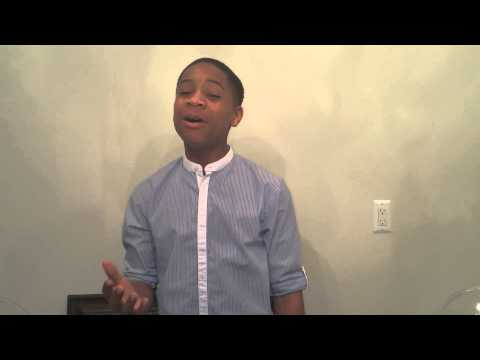 13 yr old Caleb Carroll sings Cover of Louis Armstrong
