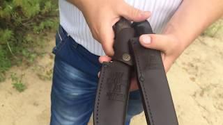 Видео обзор чехлов для ножей ручной работы от Мастерской Волковых(Сайт