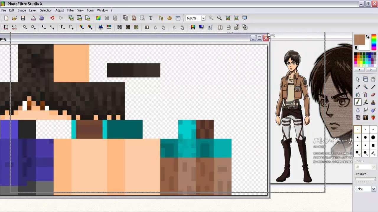 Speed- Art]~[Attack on titan - Shingeki no kyojin] Minecraft skin