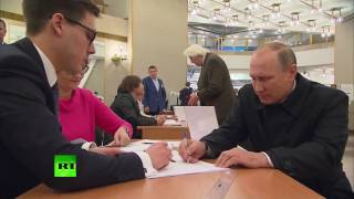 Voting is underway in Russia's nationwide election day for positions in the federal parliament and dozens of municipal and regional bodies. Russian President Vladimir Putin, as always, voted in Moscow