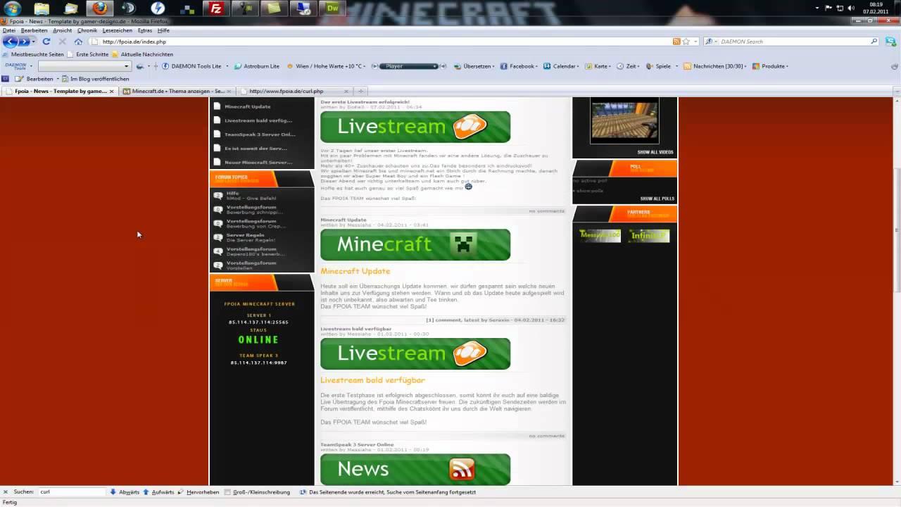 Minecraft Server Status Auf Hompage Anzeigen YouTube - Minecraft server status banner erstellen