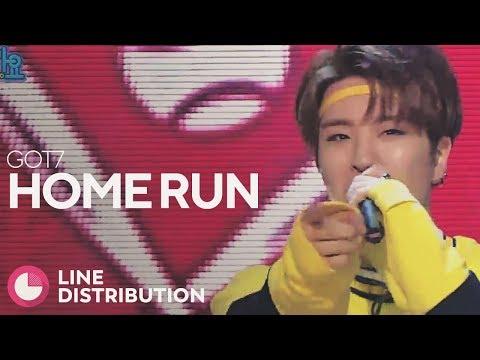GOT7 - Home Run (Line Distribution)