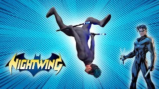 Nightwing Parkour Stunts In Real Life (Robin From Batman)