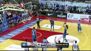 Philippines vs. Chinese Taipei A - Q2 | JONES CUP 2015