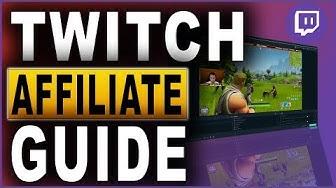 Twitch Affiliate Guide (2018) Deutsch