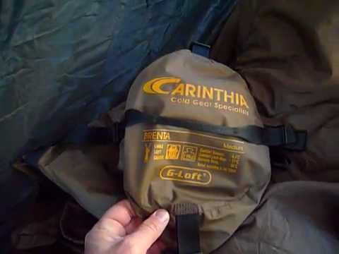 5e942ef76b9 Carinthia Brenta sleeping bag in hammock- Saco de dormir Catinthia Brenta  en una hamaca