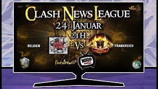 Clash of Clans Live | Clash News League - CNL | Belgien vs Frankreich | Tägliche Streams [24/365]