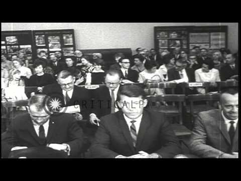 Astronaut Walter Schirra testifies before a Congressional subcommittee regarding ...HD Stock Footage