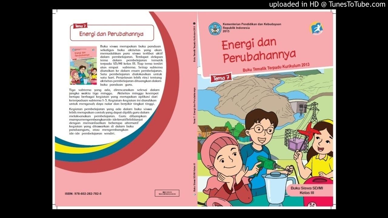 Audiobook Pelajaran Sd Kelas 3 Tema 7 3 Energi Alternative Youtube